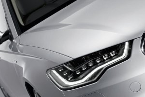 Audi A6 with LEd bulbs