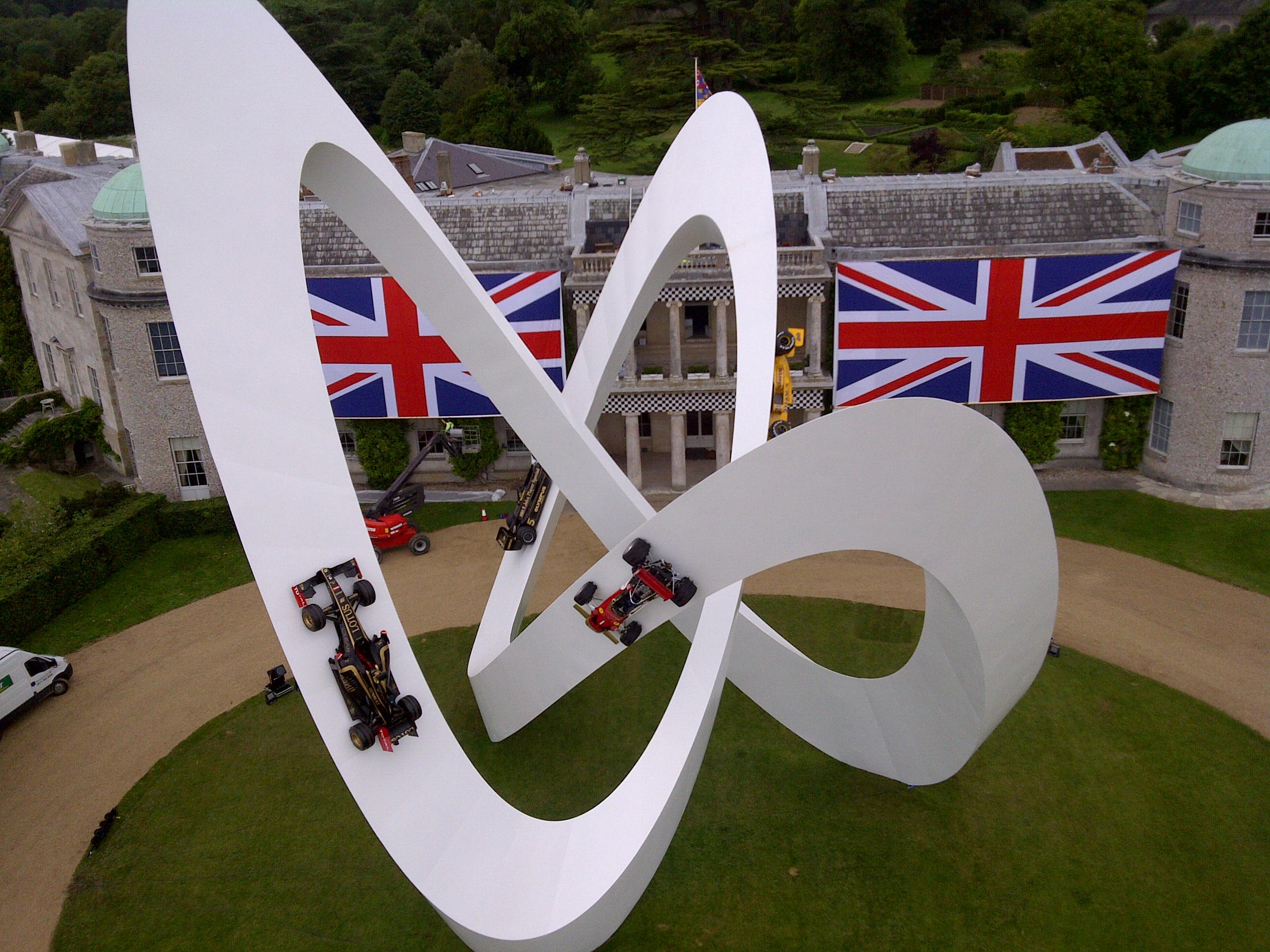 Lotus Sculpture at Goodwood FOS