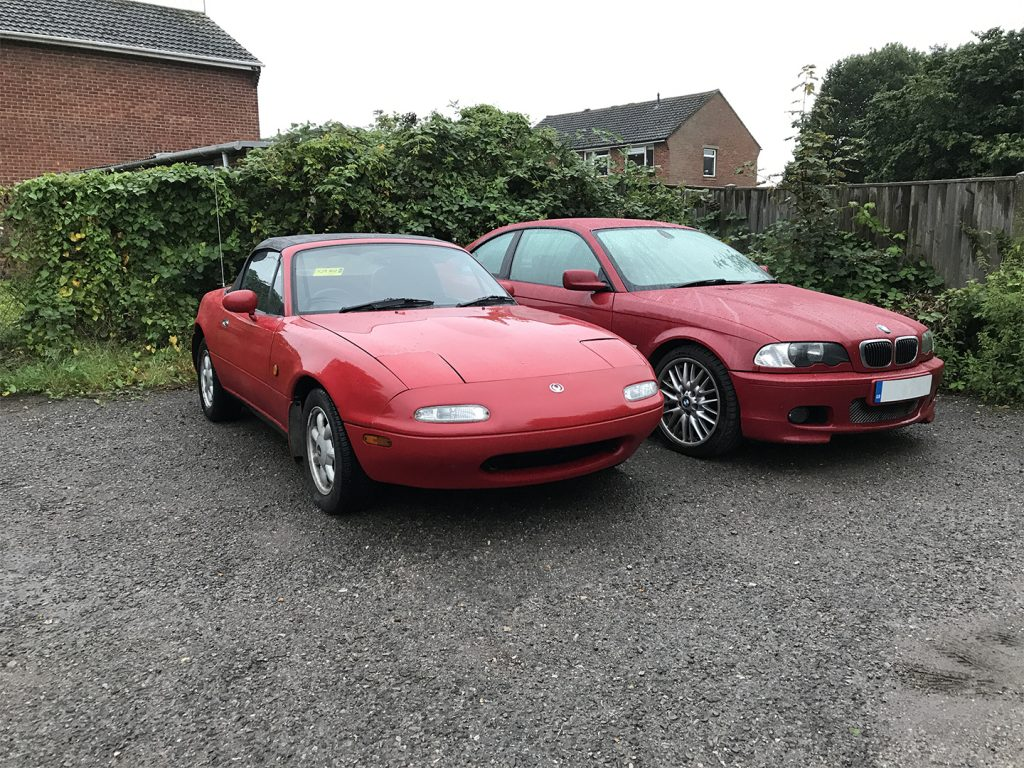 MX5 and BMW 330CI