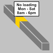 No loading or unloading at the times shown