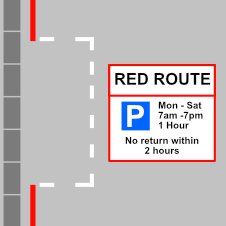 parking is limited to the duration specified suring the days and times shown