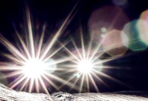 blinding LED headlights