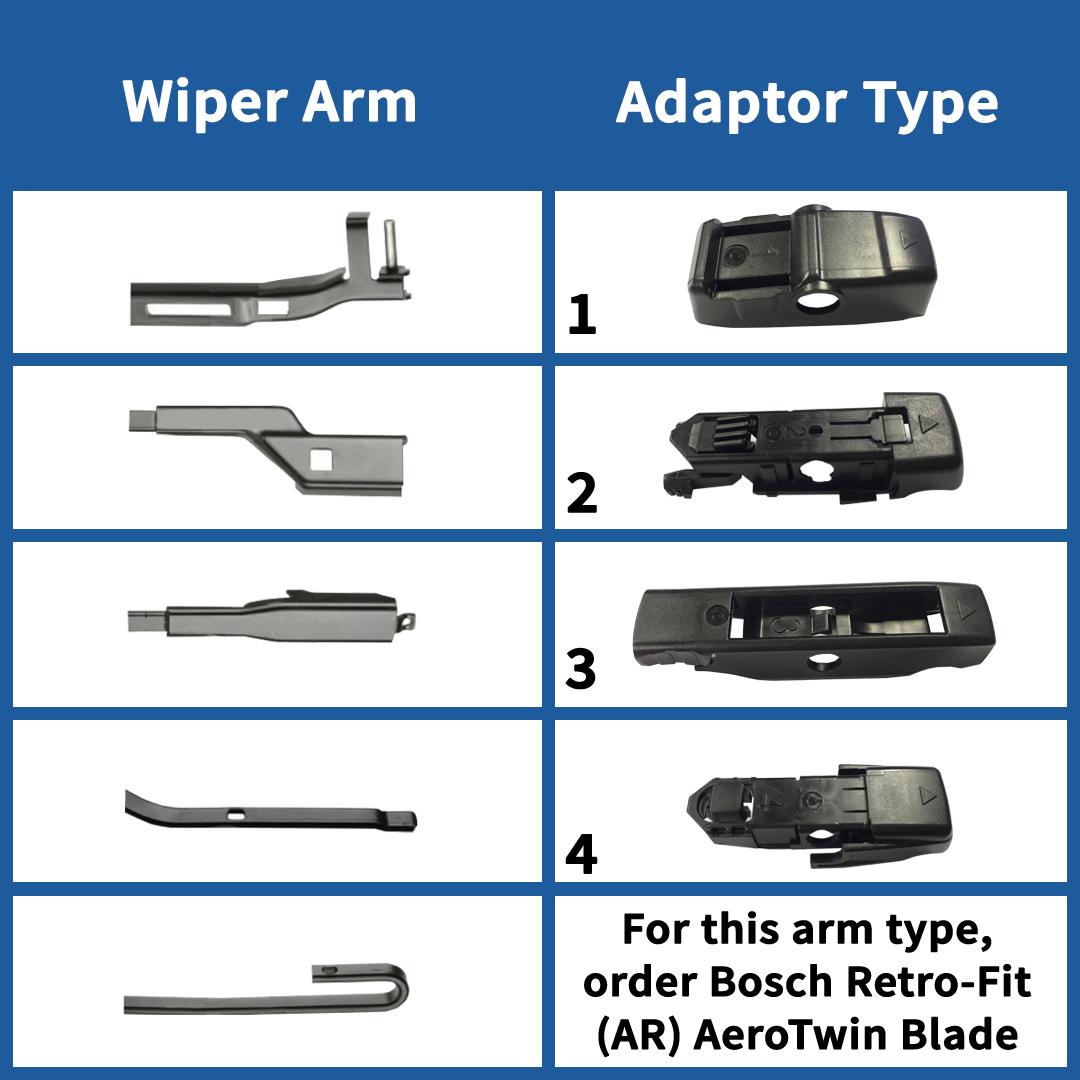 ap24u bosch aerotwin multi clip single wiper blades 24. Black Bedroom Furniture Sets. Home Design Ideas