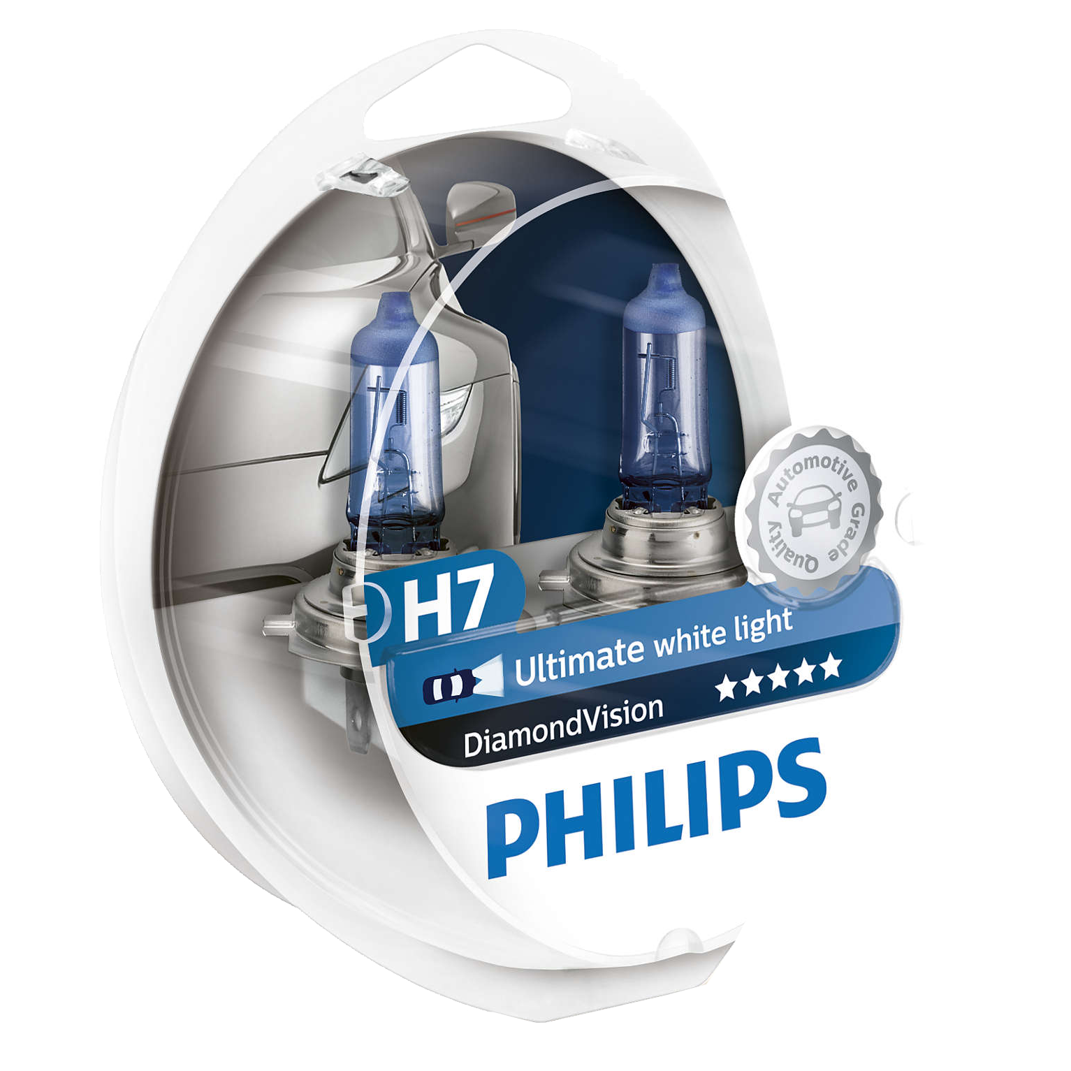 H7 Philips Diamond Vision 12V 55W 477 Halogen Bulbs (Pair)