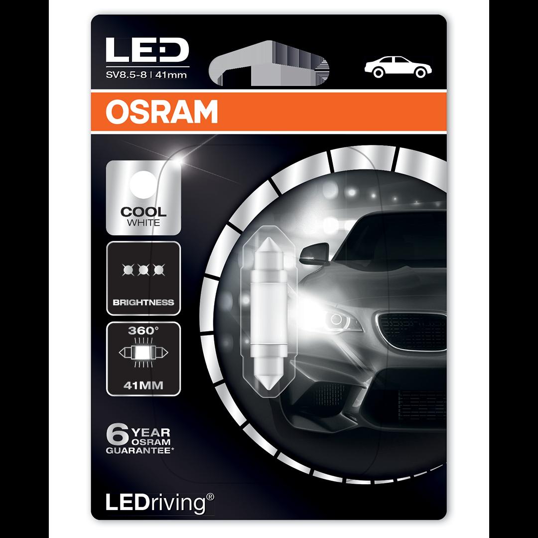 1x White Ultra LED Festoon 42mm 24v Interior Light Bulb 264
