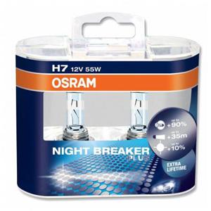 OSRAM Night Breaker Plus H7 12V 55W +90% headlight bulbs