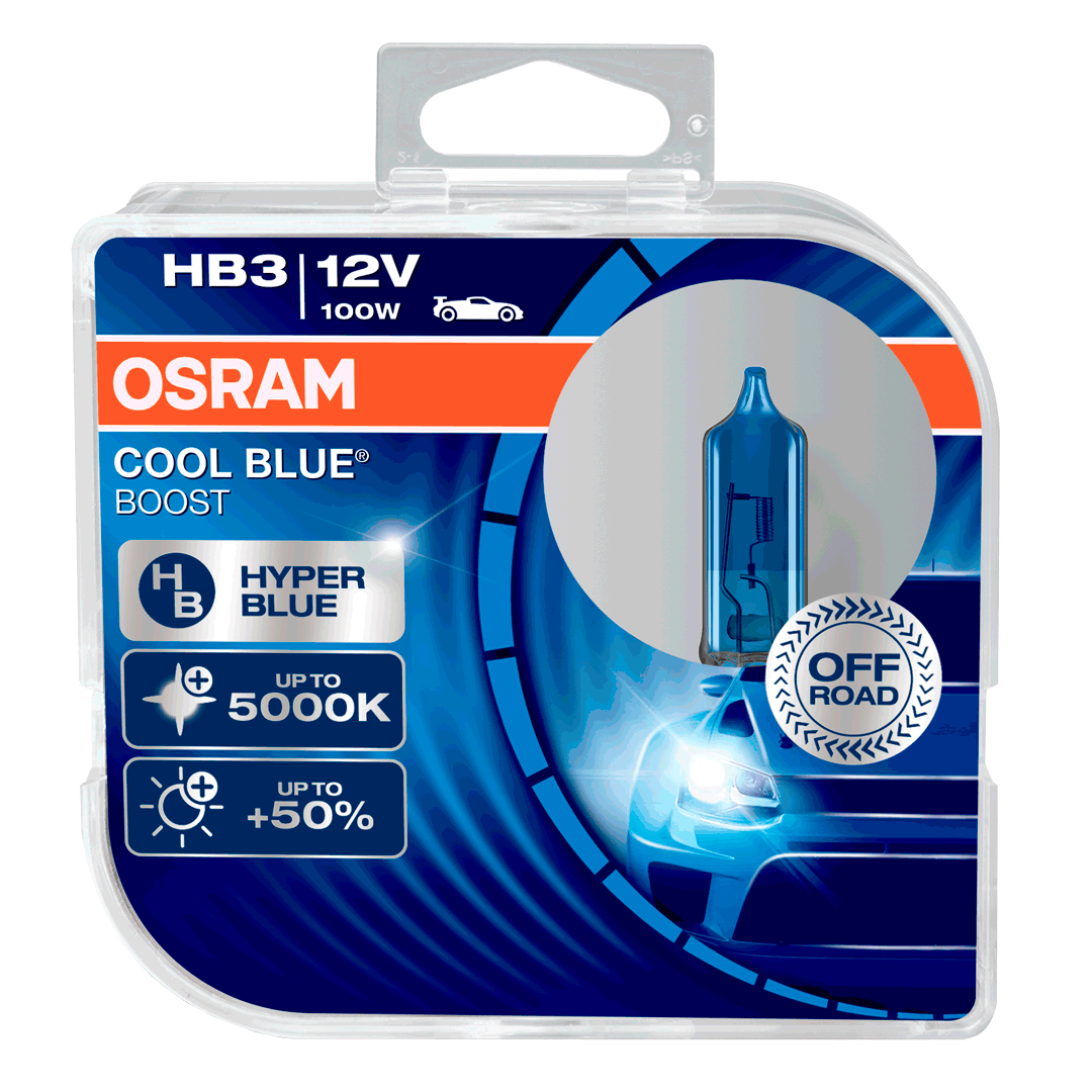 Hb3 Osram Cool Blue Boost 12v 100w 9005 Halogen Bulbs 69005cbb Hcb Led Drl Relay Wiring Harness Voltage Booster