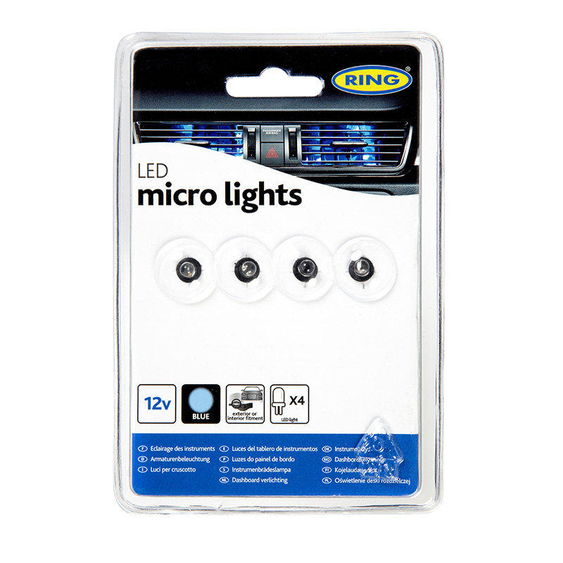 Ring Led Prism Micro Lights 12v 4x Leds Blue Red And