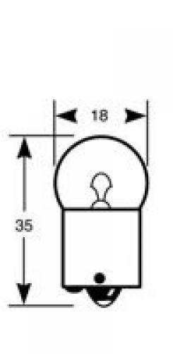 245 Vision24 12v 10w Scc Ba15s Side Amp Tail Long Life Bulb