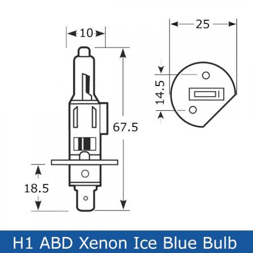 H1 ABD Xenon Ice Blue 12V 55W 448 Halogen Bulbs Pair