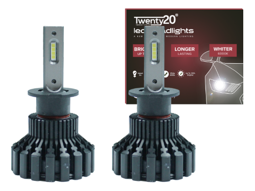 H3 Twenty20 LED 12V Headlight Bulbs (Pair)