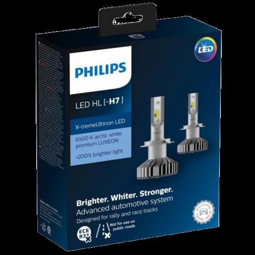 H7 Philips X-Treme Ultinon LED Headlight Bulbs (Pair)