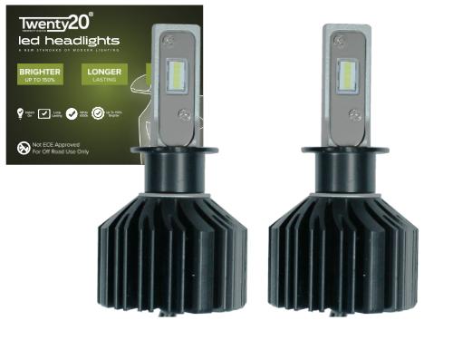 H3 Twenty20 V10 Compact LED Foglight Bulbs (Pair) | CANBus Ready LED's