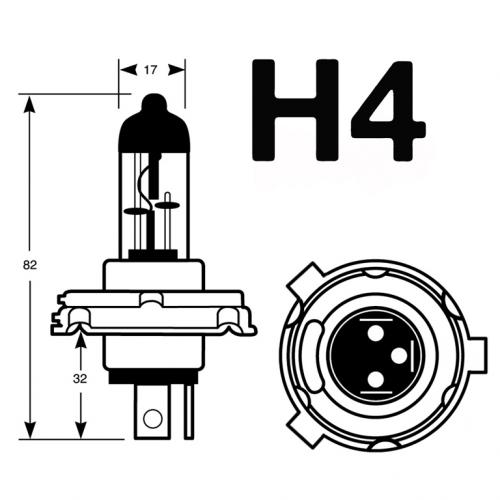 H4 Ring Vision 24 55/60W Long Life Halogen Bulb