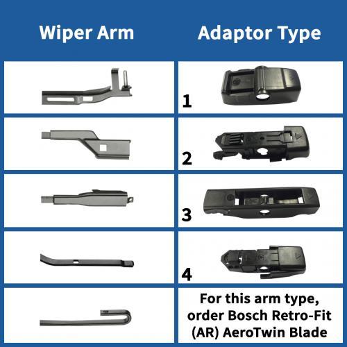 Flot AP22U Bosch Aerotwin Multi-Clip Single Wiper Blades 22