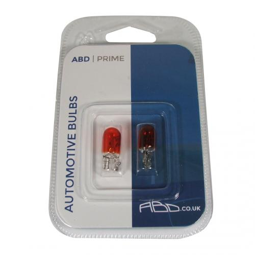 501A ABD Prime 12V 5W WY5W Side Indicator Wedge Bulbs (Pair)