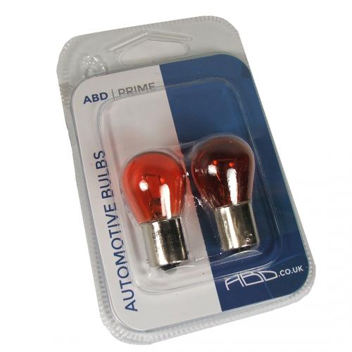 581 ABD Prime Amber 12V 21W PY21W Indicator Bayonet Bulbs (Pair)