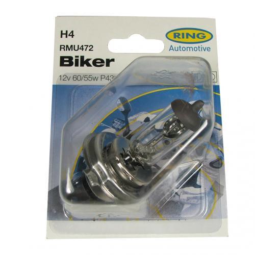 H4 Ring Motorbike 12V 60/55W Halogen Bulb