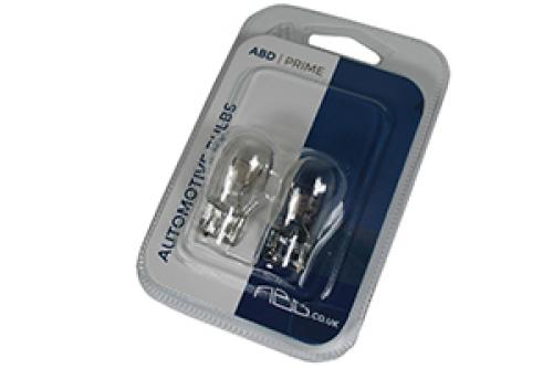 582/7440 ABD Prime 12V W21W Wedge Bulbs (Pair)