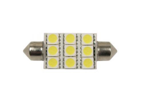264 ABD 9 LED 12V 42mm Number Plate & Interior Festoon Bulb