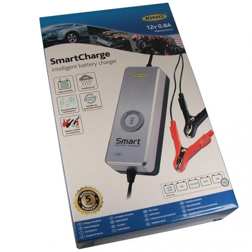 Ring RSC601 Smart Charge Intelligent Battery Maintenance Charger 12v - 0.8A