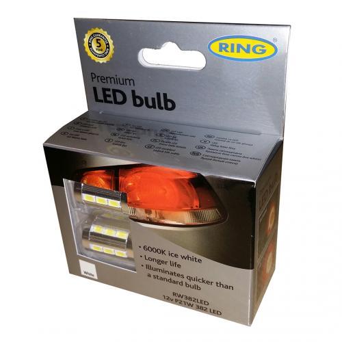 382 Ring Premium LED 12V P21W Bayonet Bulbs (Pair)