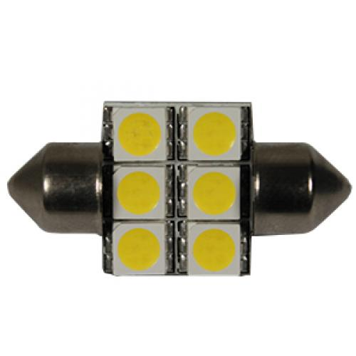 272 ABD 6 LED 12V 38mm Number Plate & Interior Festoon Bulb