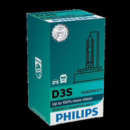 D3S Philips X-treme Vision Gen2 +150% 35W 4800K Xenon HID Bulb