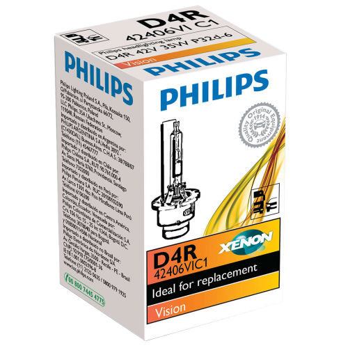 D4R Philips Vision Standard Replacement 35W 4300K Xenon HID Bulb