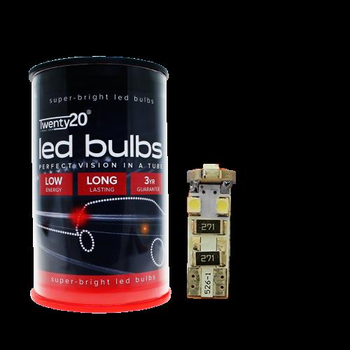501 Twenty20 LED 12V W5W Canbus Wedge Bulbs