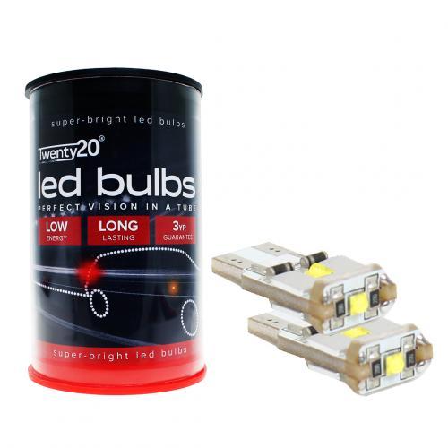 501 Twenty20 Cree LED 12V W5W Canbus Wedge Bulb