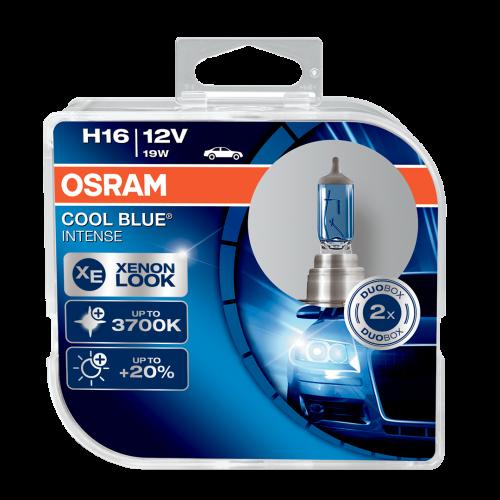 H16 OSRAM Cool Blue Intense 12V 19W Halogen Bulbs (Pair)