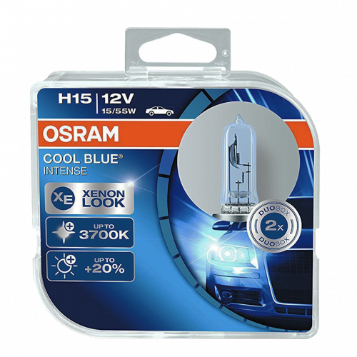 H15 Osram Cool Blue Intense 12V 55/15W Halogen Bulbs (Pair)