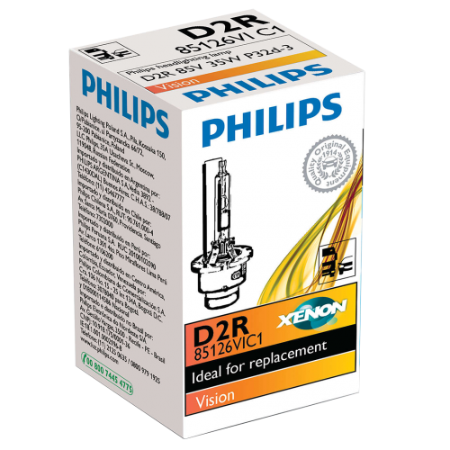 D2R Philips Vision Standard Replacement 35W 4300K Xenon Bulb