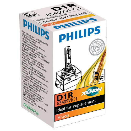 D1R Philips Vision Standard Replacement 35W 4300K Xenon HID Bulb