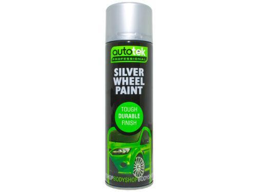 Autotek Car Alloy Wheel Spray Paint Silver 500ml