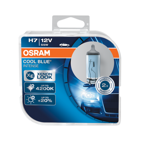 H7 OSRAM Cool Blue Intense 12V 55W 477 Halogen Bulbs (Pair)