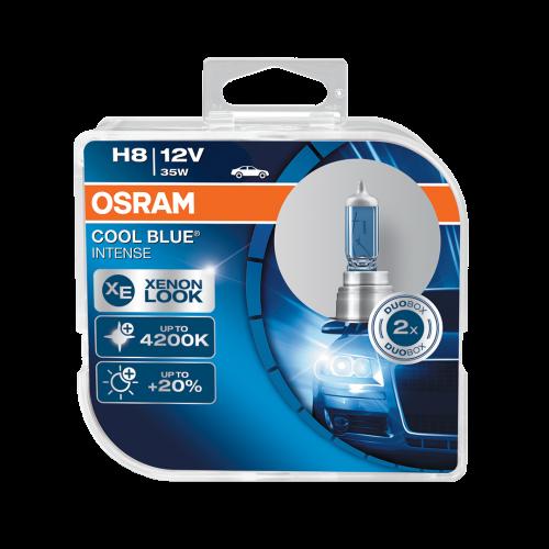 H8 OSRAM Cool Blue Intense 12V 35W Halogen Bulbs (Pair)