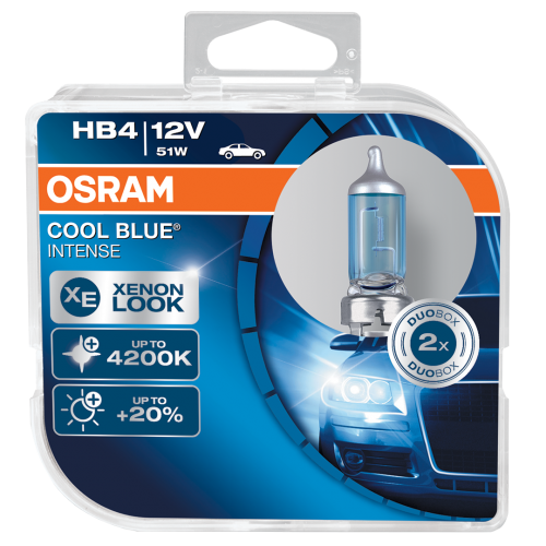 HB4 OSRAM Cool Blue Intense 12V 51W Halogen Bulbs (Pair)