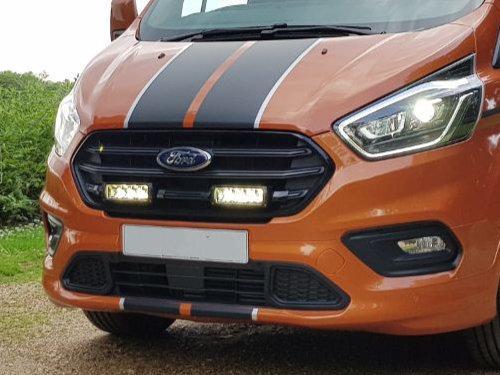 Ford Transit Custom (2018+) Grille Mount Kit   Lazer Lamps