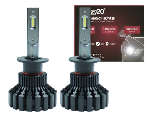 H1 Twenty20 Impact LED 12V 448 Headlight Bulbs (Pair)
