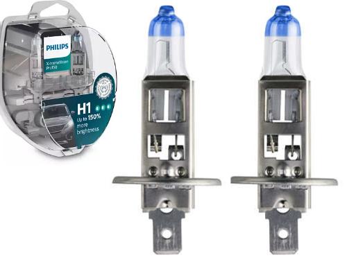 H1 Philips X-tremeVision Pro150 12V 55W Halogen Bulb (Pair)