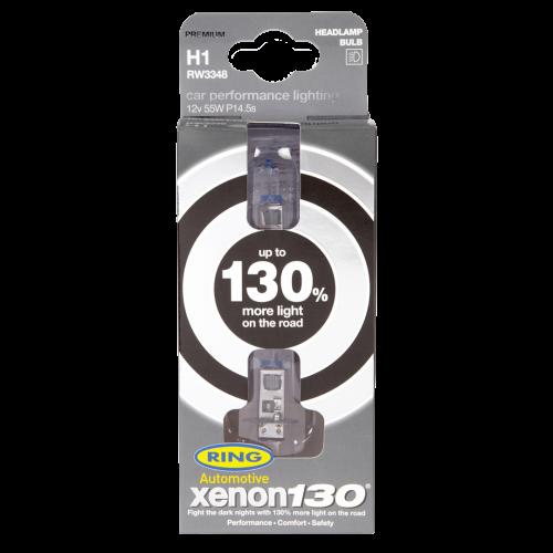 H1 Ring XENON Ultima +130% 12V 55W 448 Halogen Bulbs (Pair)