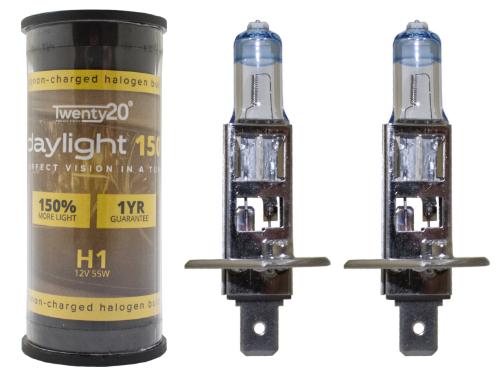 H1 Twenty20 Daylight +150% 12V 55W 448 Halogen Bulbs