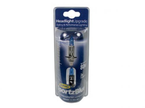 H1 Ring Sportz Blue 12V 80W 448 Halogen Bulbs (Pair)