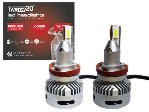 H11 Twenty20 Projector LED Headlight Bulbs (Pair)