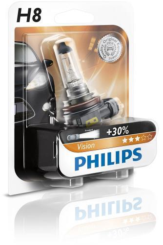 H8 Philips Vision Headlight Bulb (Single)