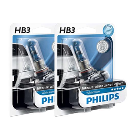 HB3 Philips White Vision 12V 65W 9005 Halogen Bulbs