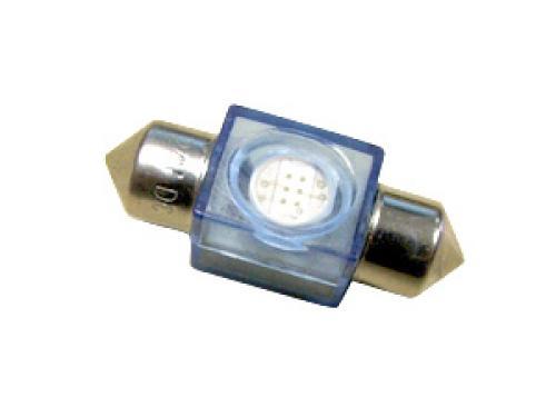 LED 24V 1 x  SMD LED High Power  Festoon Bulb - 31mm Blue