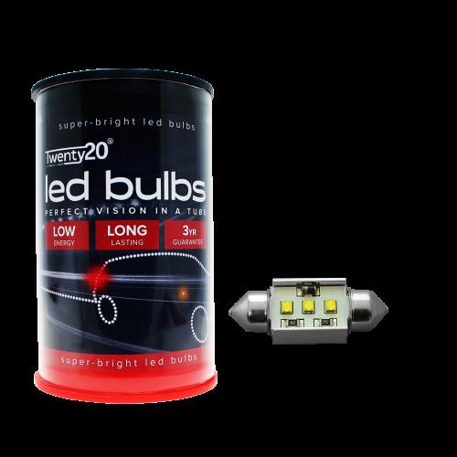 239 Twenty20 Cree LED 12V 38mm Canbus Number Plate & Interior Festoon Bulb